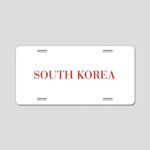 South Korea-Bau red 400 Aluminum License Plate