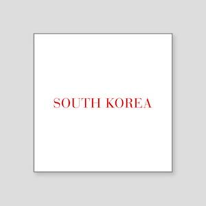 South Korea-Bau red 400 Sticker