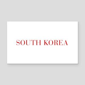 South Korea-Bau red 400 Rectangle Car Magnet
