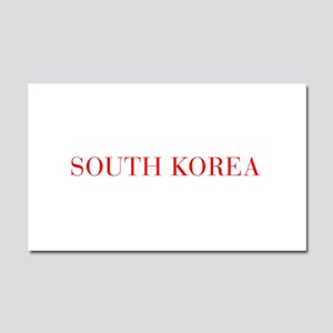 South Korea-Bau red 400 Car Magnet 20 x 12