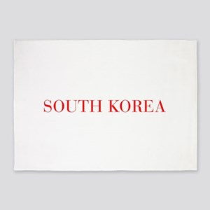 South Korea-Bau red 400 5'x7'Area Rug
