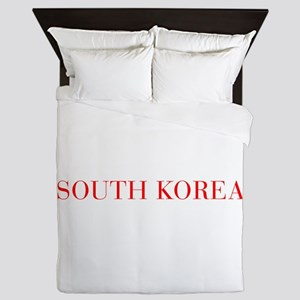 South Korea-Bau red 400 Queen Duvet