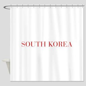South Korea-Bau red 400 Shower Curtain