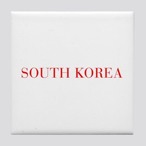 South Korea-Bau red 400 Tile Coaster