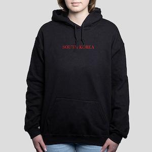 South Korea-Bau red 400 Women's Hooded Sweatshirt
