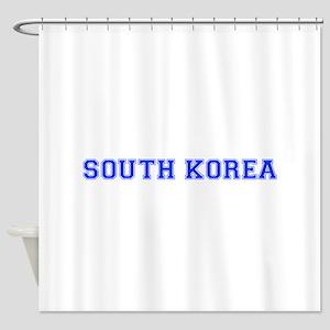 South Korea-Var blue 400 Shower Curtain