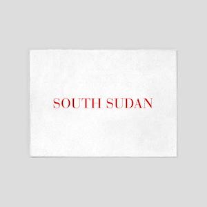 South Sudan-Bau red 400 5'x7'Area Rug