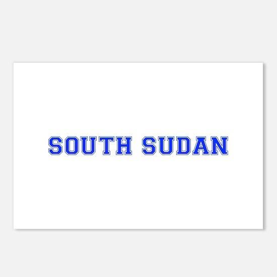 South Sudan-Var blue 400 Postcards (Package of 8)