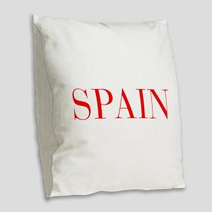 Spain-Bau red 400 Burlap Throw Pillow
