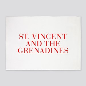 St Vincent and The Grenadines-Bau red 400 5'x7'Are