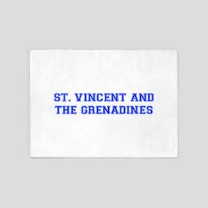 St Vincent and The Grenadines-Var blue 400 5'x7'Ar