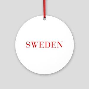 Sweden-Bau red 400 Ornament (Round)