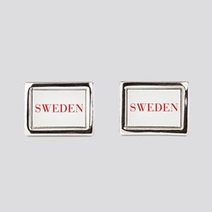 Sweden-Bau red 400 Rectangular Cufflinks