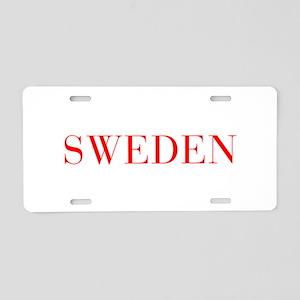 Sweden-Bau red 400 Aluminum License Plate