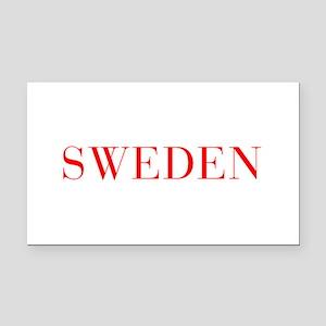 Sweden-Bau red 400 Rectangle Car Magnet