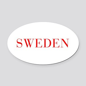 Sweden-Bau red 400 Oval Car Magnet