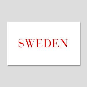 Sweden-Bau red 400 Car Magnet 20 x 12