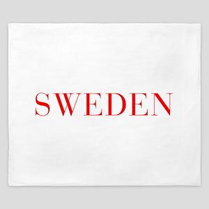 Sweden-Bau red 400 King Duvet