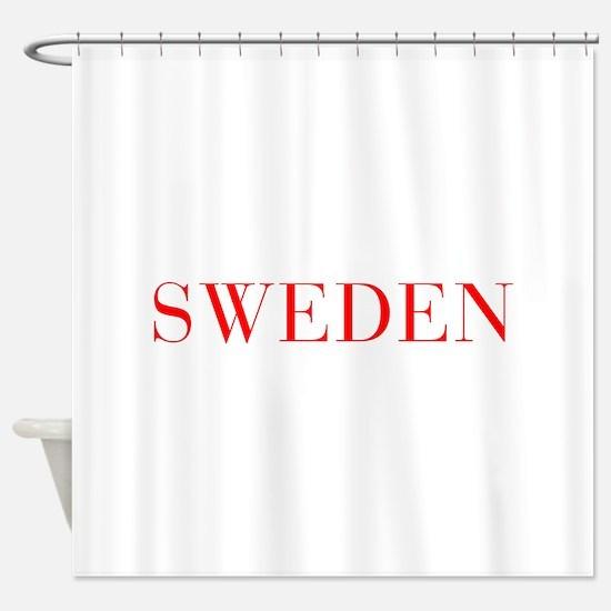 Sweden-Bau red 400 Shower Curtain