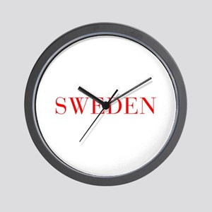 Sweden-Bau red 400 Wall Clock
