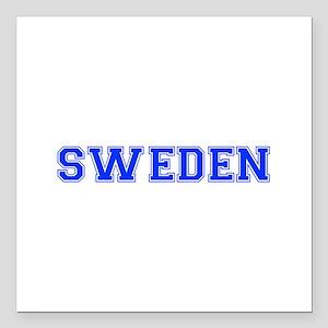 """Sweden-Var blue 400 Square Car Magnet 3"""" x 3"""""""