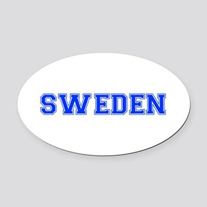Sweden-Var blue 400 Oval Car Magnet