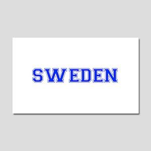 Sweden-Var blue 400 Car Magnet 20 x 12