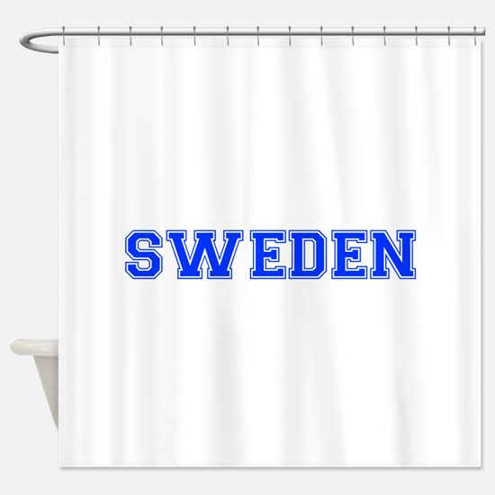 Sweden-Var blue 400 Shower Curtain