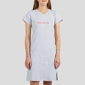 Switzerland-Bau red 400 Women's Nightshirt