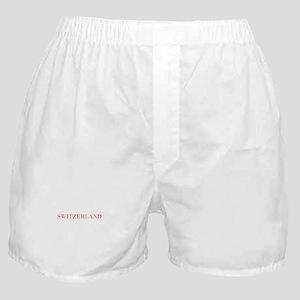 Switzerland-Bau red 400 Boxer Shorts