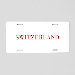 Switzerland-Bau red 400 Aluminum License Plate