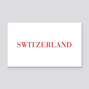 Switzerland-Bau red 400 Rectangle Car Magnet