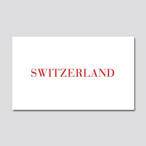 Switzerland-Bau red 400 Car Magnet 20 x 12