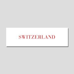 Switzerland-Bau red 400 Car Magnet 10 x 3