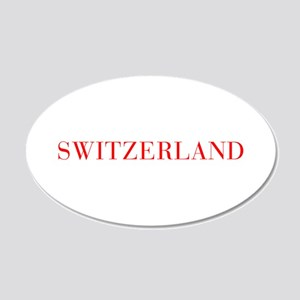 Switzerland-Bau red 400 Wall Decal