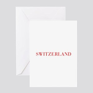 Switzerland-Bau red 400 Greeting Cards