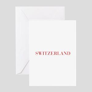 Switzerland-Bau red 400 Greeting Cards