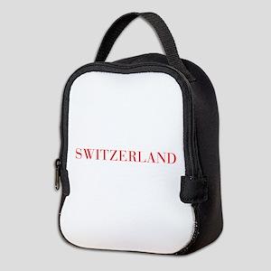 Switzerland-Bau red 400 Neoprene Lunch Bag