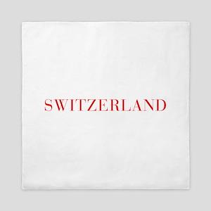 Switzerland-Bau red 400 Queen Duvet