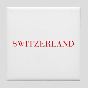 Switzerland-Bau red 400 Tile Coaster