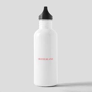 Switzerland-Bau red 400 Water Bottle