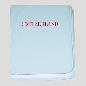 Switzerland-Bau red 400 baby blanket