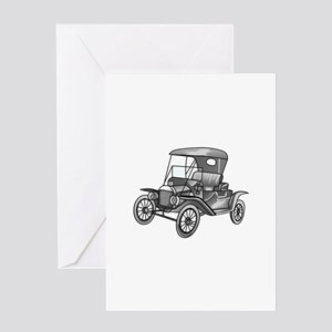 MODEL T CAR Greeting Cards
