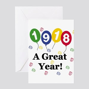 1918 A Great Year Greeting Card