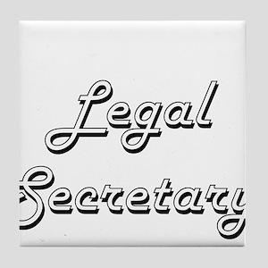 Legal Secretary Classic Job Design Tile Coaster