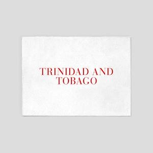 Trinidad and Tobago-Bau red 400 5'x7'Area Rug