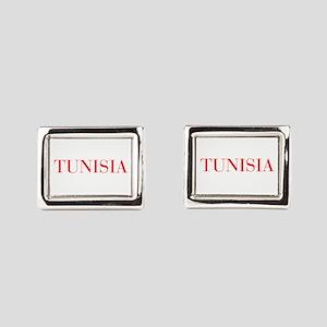 Tunisia-Bau red 400 Rectangular Cufflinks