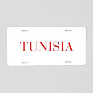 Tunisia-Bau red 400 Aluminum License Plate