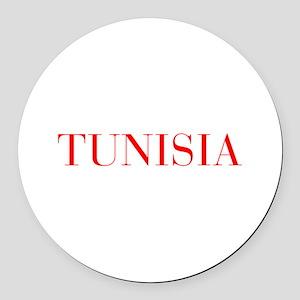 Tunisia-Bau red 400 Round Car Magnet