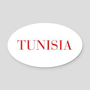 Tunisia-Bau red 400 Oval Car Magnet
